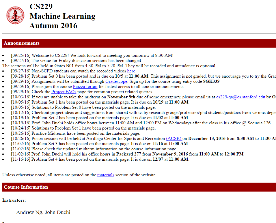 Stanford CS229 Machine Learning – C  Cui's Blog